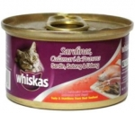 Whiskas Sardines, Calamari & Prawns Cat Canned Food